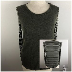 Honey Punch Long Sleeve Knit Top Size M Olive